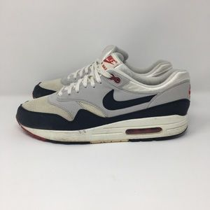 2013 Nike Air Max 1  OG Sail Dark Obsidian 10.5